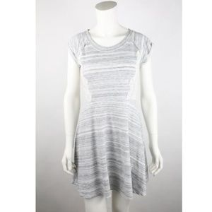 Xhilaration Womens A Line Dress Size S Gray Stripe